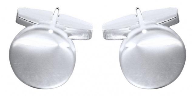 Massive runde Manschettenknöpfe Sterlingsilber 925 zeitlos und elegant Silber