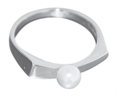 Weißgoldring 585 mit Perle eleganter Perlenring Gold 585 Ring Weißgold Goldring