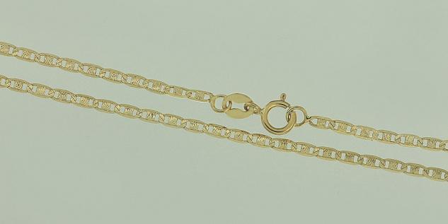 45 cm massive feine Goldkette 585 - Halskette - geschliffene Kette Gold 14 kt