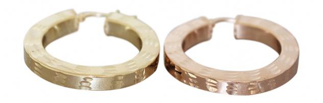 Creolen Silber 925 Gold od Rotgold vergoldet funkelnde Ohrringe Rosegold Damen