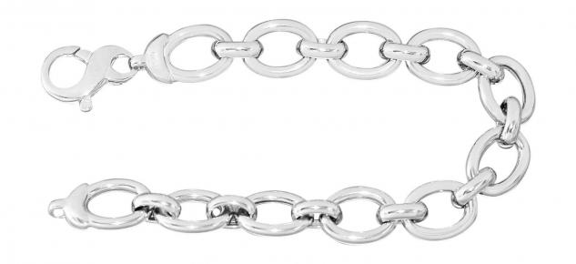 Starkes Armband Silber 925 rhodiniert Silberarmband Armkette große Glieder 20 cm