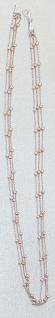 3-reihige Halskette od Armband Silber 925 bicolor Rotgold Kugelkette Silberkette - Vorschau 3