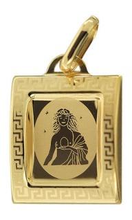 Sternzeichen Jungfrau Gold 585 Anhänger 14 Karat Kettenanhänger Gelbgold
