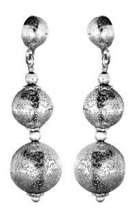 3, 5 cm Ohrhänger Weißgold 585 funkelnde Kugeln Ohrstecker Ohrringe Gold 14 Kt.