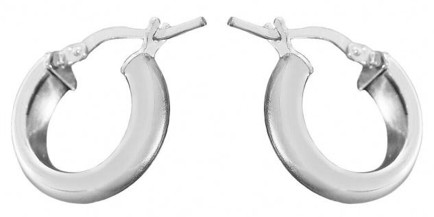 Creolen Silber 925 kleine breite Ohrringe 1, 6 cm Ohrschmuck Damen Herren