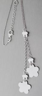 Y Kette und langer Blumenanhänger Silber 925 Collier Silberkette Halskette