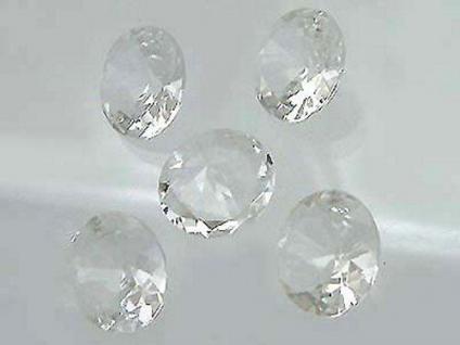 5 Bergkristalle im Brillantschliff 15 mm Durchmesser