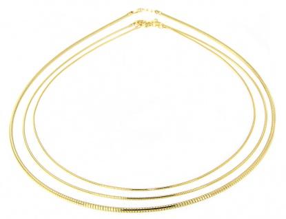 Halsreif Silber 925 Tonda 42 45 50 cm Collier vergoldet 2 / 1, 2 / 1 mm