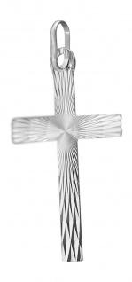Großes Kreuz Weißgold 585 Anhänger geschliffen Goldkreuz Kreuzanhänger 14 Karat