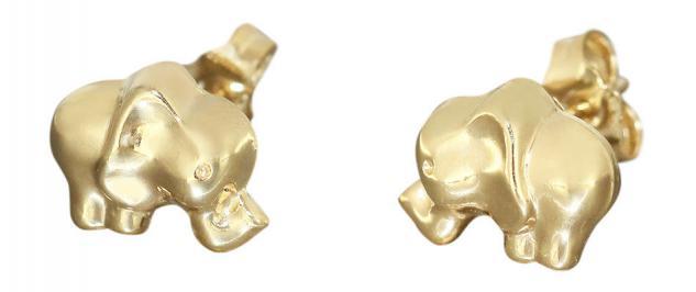 Elefanten Ohrstecker Gold 750 Ohrschmuck Elefant Goldohrstecker 18 kt Ohrringe