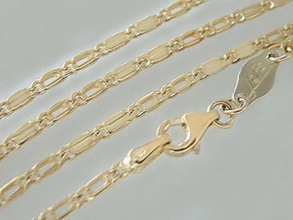 Massive Goldkette 585 - Halskette 60 cm mit Karabiner - Kette Gold 14 kt Collier