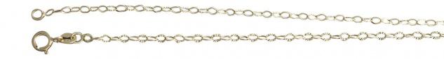 45 / 50 cm feine Goldkette 333 Gliederkette - Halskette geschliffen - Kette Gold