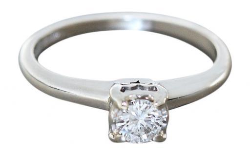 Brillantring 0, 25 ct Weißgold 585 Solitärring Weißgoldring Damenring Ring Gold