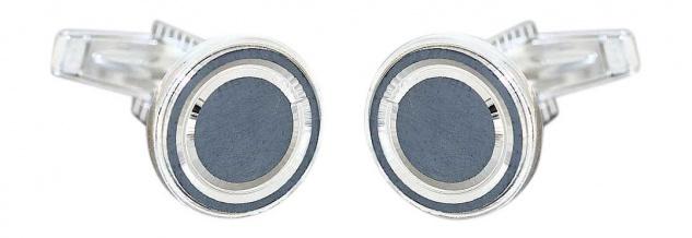 Manschettenknöpfe Silber 925 massiv grau 1 Paar dekorative Cufflinks 10 gr.