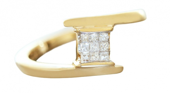 Edler Diamantring Gold 750 Goldring 0, 20 ct Brillanten RW 54 Damen 18 Kt