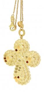 Kreuz Silber 925 Kette Silberkette rhodiniert Anhänger Gold oder bicolor Rotgold