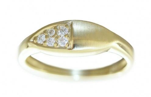 Brillantring Goldring 585 mit Brillanten 0, 12 ct. Ring Gold edles Design RW 53