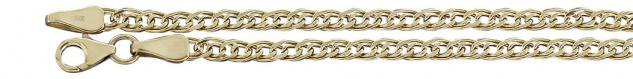 19 cm Goldarmband 333 Armkette funkelnd geschliffen - Armband Gold mit Karabiner