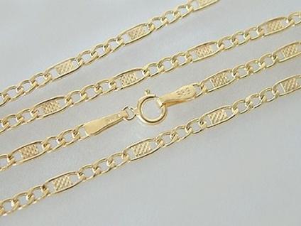 50 cm feine flache Goldkette 585 - Kette Gold 14 kt - Panzerkette - Halskette