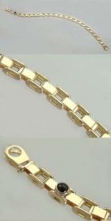 Massives Armband Gold 585 mit Saphir und Karabiner Goldarmband massiv Armkette