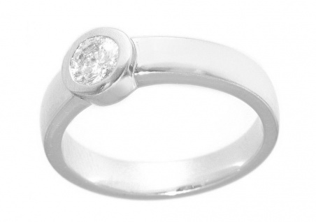 Ring Weißgold 750 Brillant Solitär 0, 51 ct. Brillantring Damen 18 Karat massiv
