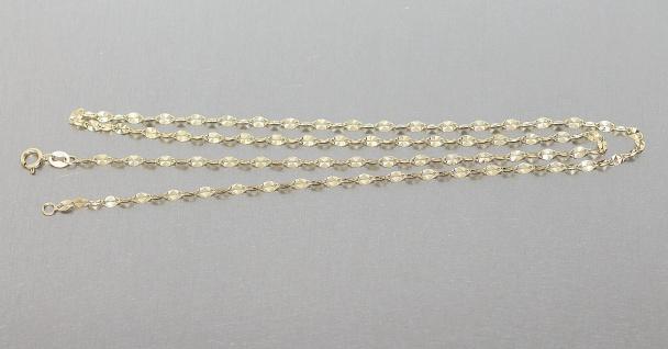 45 / 50 cm Plättchenkette Gold 333 funkelnde Halskette Kette Gold 8 Karat