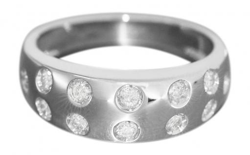 Luxus Ring Weißgold 750 mit 12 Brillanten ca. 0, 50 ct. Damenring 18 Karat