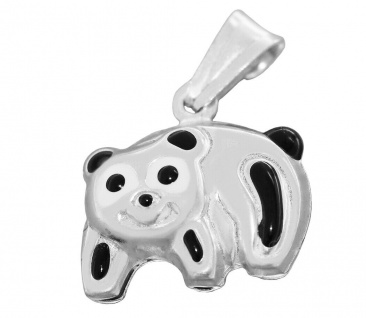 Panda Bär Silber 925 mit oder ohne Venezianerkette Silberkette