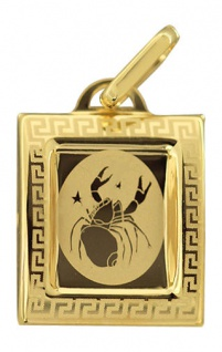 Sternzeichen Krebs - sehr schöner Anhänger Gold 333 - Goldanhänger Krebs 8 kt