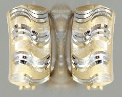 Creolen Gold 585 bicolor Ohrringe Halbcreolen Gold 14 Karat Damen Mädchen - Vorschau 2