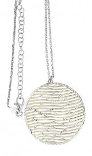 Silberkette mit Anhänger 925 Rotgold od. Gelbgold vergoldet Kette Silber Collier