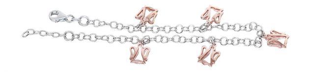 Schutzengel Armband Silber 925 Engel Rotgold Silberarmband Bettelarmband Armkett