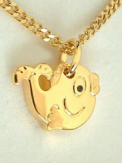 Goldenes Fischlein Nemo Anhänger Fisch und Goldkette vergoldet Panzerkette Gold