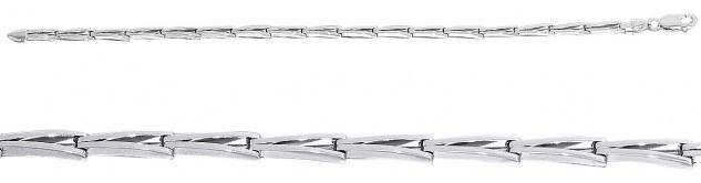 21 cm massives Silberarmband 925 rhodiniert Armkette Armband Sterlingsilber