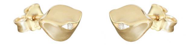 Luxus Brillantohrschmuck in Gold 585 Ohrstecker mit Brillanten Goldohrringe