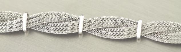 Breites Silberarmband 925 - Armband Silber 19 cm - edle Armkette Sterlingsilber