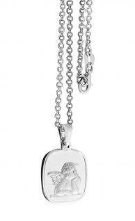 Schutzengel Kette Sterlingsilber 925 massiv mit Anhänger Silberkette Erwachsene - Vorschau 2