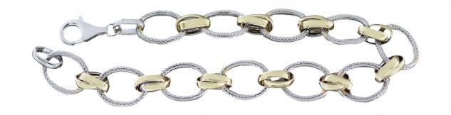Must have !! Silberarmband 925 Gold Armband Große Glieder Armkette Damenarmband