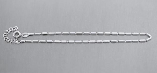 Fußkettechen Silber 925 massiv Fußkette Silberkette 25 cm Damen