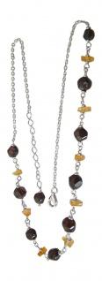 Collier - Kette Silber 925 mit cherry Bernstein - Silberkette massiv - Halskette