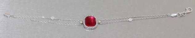 Armband Silber 925 mit Schmuckstein und Zirkonia Silberarmband trendy Armkette