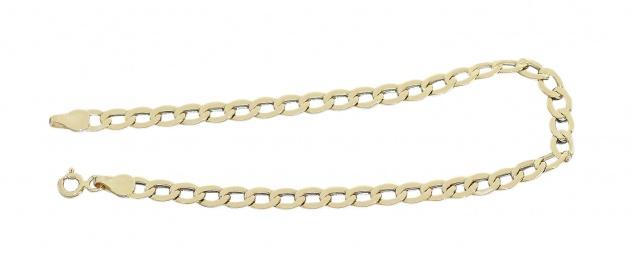 Panzerarmband Gold 585 Armkette 14 Karat Armband 21 cm lang 4, 1 mm breit