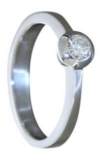 Brillantring 0, 20 ct Weißgold 585 Ring Brillant Solitär Weißgoldring Damenring - Vorschau 1