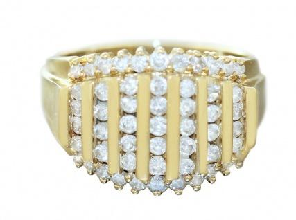 Ring Gold 585 Brillantring 1, 4 ct. Brillanten Damenring 14 Kt. Goldring RW 56