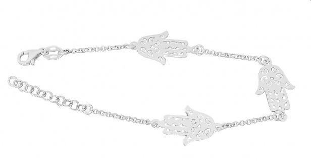 Armband Silber 925 Hand der Fatima Silberarmband rhodiniert Hamsa Armkette