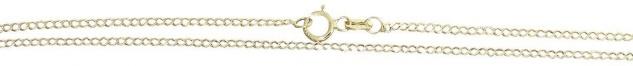 Feine Panzerkette echt Gold 333 Halskette Goldkette 42 45 50 cm