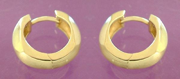 Massive Creolen Gold 585 Ohrringe Klappcreolen 5, 5 gr Goldcreolen 14 kt