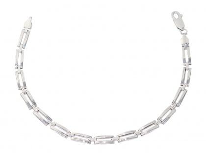 22 cm massives Armband Silber 925 Armkette Silberarmband rhodiniert Gliederkette
