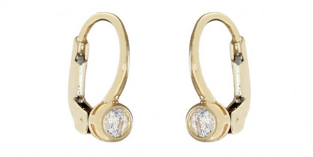 Ohrhänger Gold 585 Zirkonia Ohrringe Brisur Ohrschmuck Kinder Damen