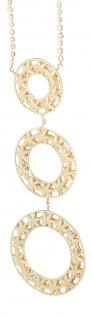 Goldkette 750 / 18 Karat Designer Collier Kette mit Anhänger Halskette Gelbgold
